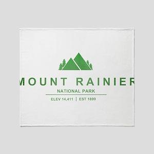 Mount Rainier National Park, Washington Throw Blan