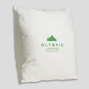Olympic National Park, Washington Burlap Throw Pil