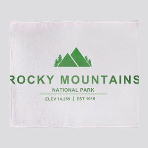 Rocky Mountains National Park, Colorado Throw Blan