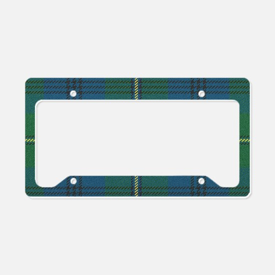 Johnson Family tartan plaid Monogrammed License Pl