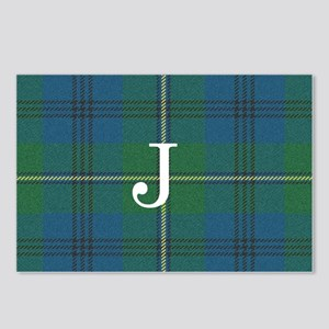 Johnson Family tartan plaid Monogrammed Postcards