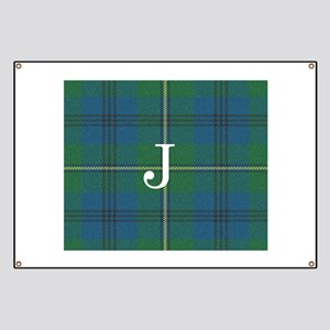 Johnson Family tartan plaid Monogrammed Banner