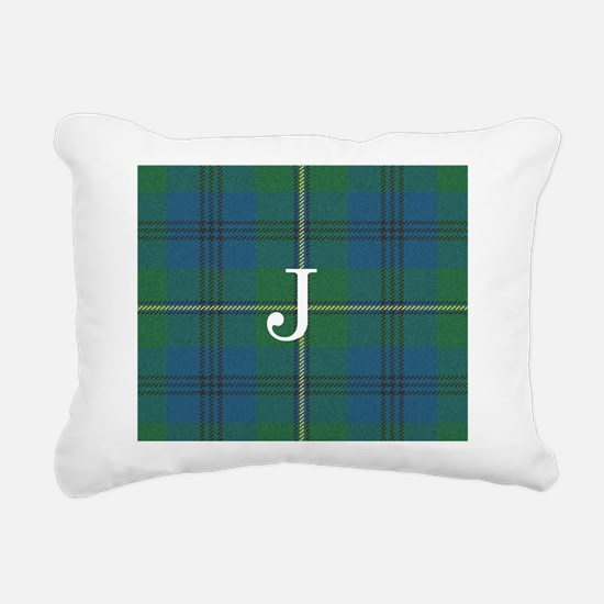Johnson Family tartan plaid Monogrammed Rectangula