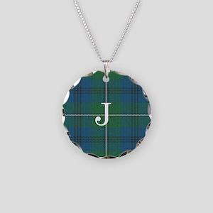 Johnson Family tartan plaid Monogrammed Necklace