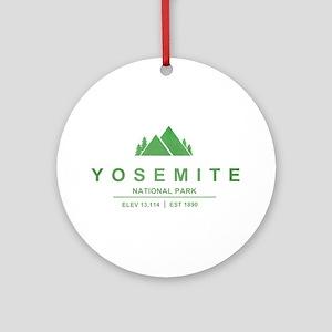 Yosemite National Park, California Ornament (Round