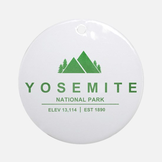 Yosemite National Park, California Ornament (Round