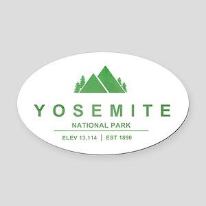 Yosemite National Park, California Oval Car Magnet