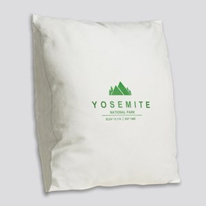 Yosemite National Park, California Burlap Throw Pi