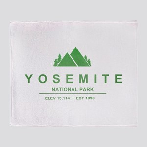Yosemite National Park, California Throw Blanket