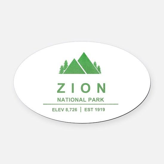 Zion National Park, Utah Oval Car Magnet