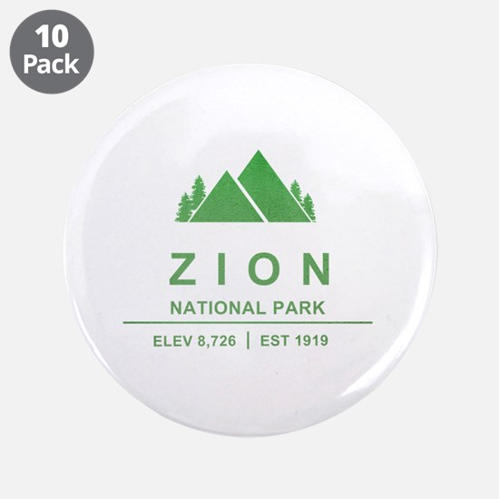 "Zion National Park, Utah 3.5"" Button (10 pack)"