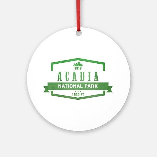 Acadia, Maine National Park Ornament (Round)