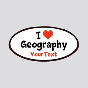 Love Geography Optional Text Patches