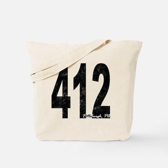 Distressed Pittsburgh 412 Tote Bag