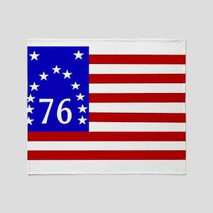 Bennington 76 Flag Throw Blanket
