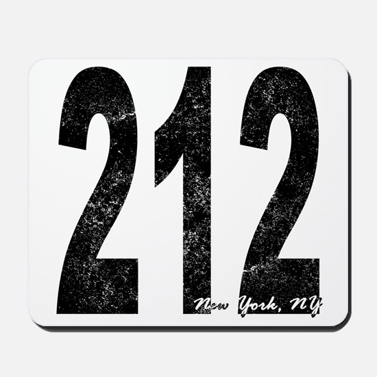 Distressed New York 212 Mousepad