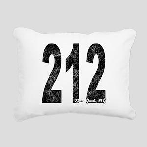 Distressed New York 212 Rectangular Canvas Pillow