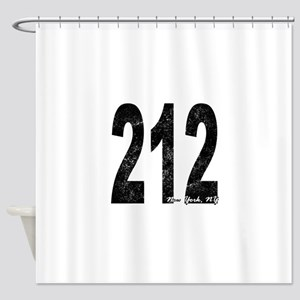 Distressed New York 212 Shower Curtain