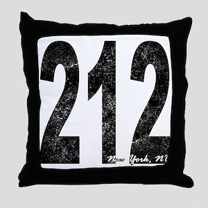 Distressed New York 212 Throw Pillow