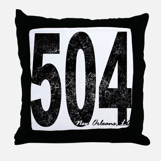 Distressed New Orleans 504 Throw Pillow