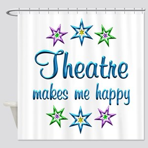 Theatre Happy Shower Curtain