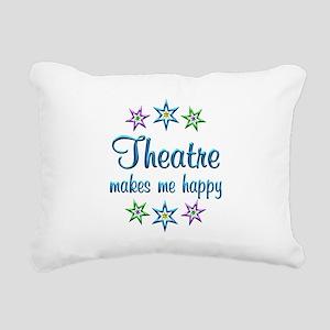 Theatre Happy Rectangular Canvas Pillow