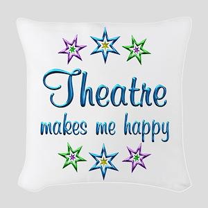 Theatre Happy Woven Throw Pillow