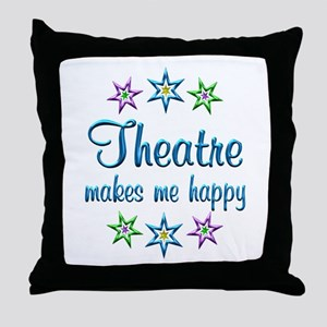 Theatre Happy Throw Pillow