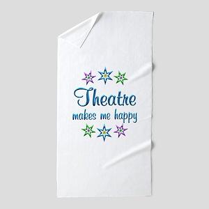 Theatre Happy Beach Towel