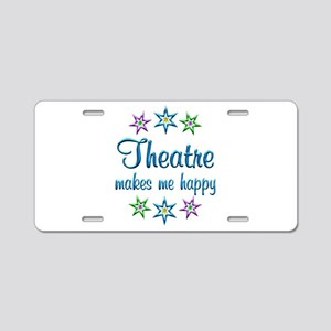 Theatre Happy Aluminum License Plate
