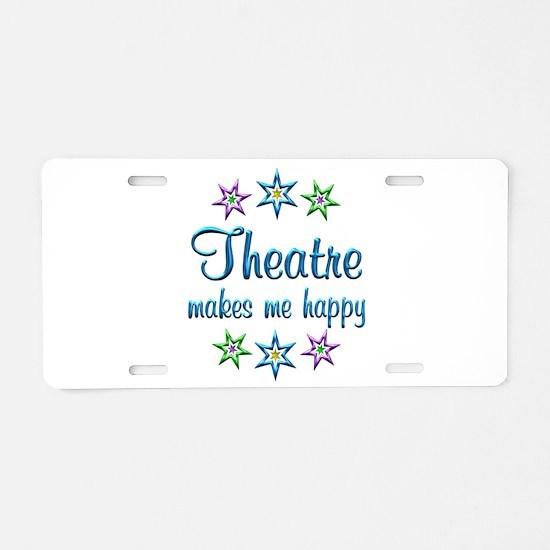 Theatre Happy Aluminum License Plate