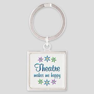 Theatre Happy Square Keychain