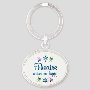 Theatre Happy Oval Keychain