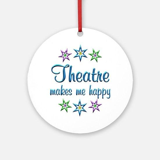 Theatre Happy Ornament (Round)
