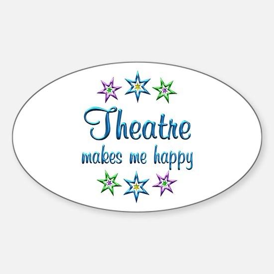 Theatre Happy Sticker (Oval)