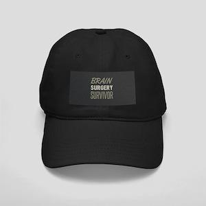 Brain Surgery Survivor Black Cap with Patch