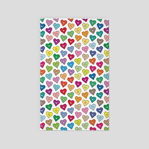 Hearts, 3'x5' Area Rug
