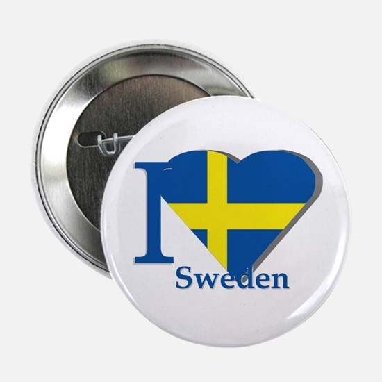 I love Sweden Button