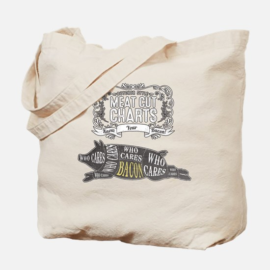 BACON; The Perfect Cut of Meat Tote Bag