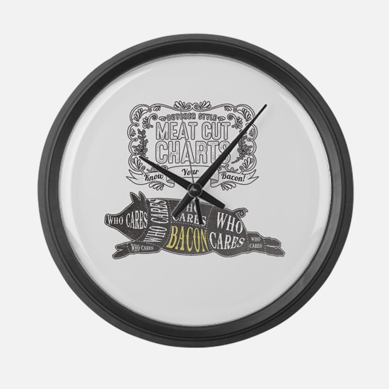 BACON; The Perfect Cut of Meat Large Wall Clock