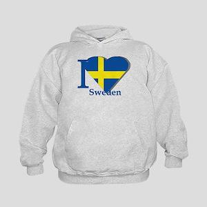 I love Sweden Kids Hoodie