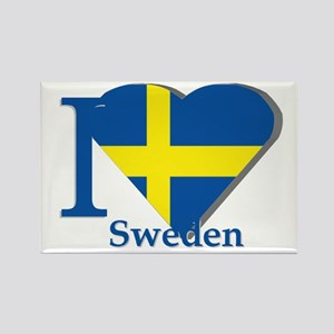 I love Sweden Rectangle Magnet