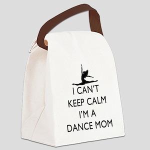 CantKeepCalmDanceMom Canvas Lunch Bag