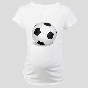 soccer ball large Maternity T-Shirt