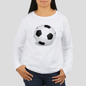 soccer ball large Long Sleeve T-Shirt