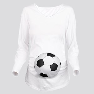 soccer ball large Long Sleeve Maternity T-Shirt