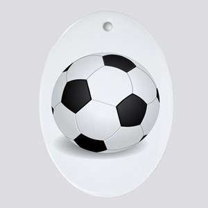soccer ball large Ornament (Oval)