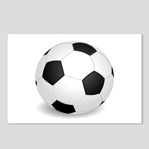 soccer ball large Postcards (Package of 8)