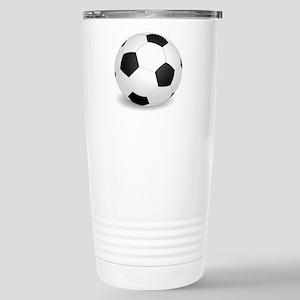 soccer ball large Travel Mug