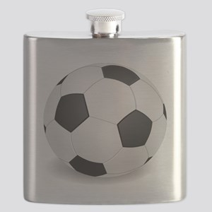 soccer ball large Flask